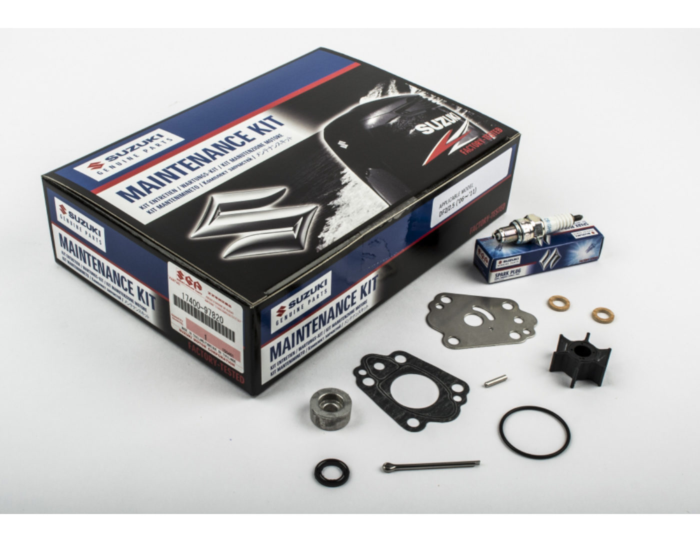 Suzuki DF2/2.5 Marine Maintainance Service Kit ('06-'11) Contents