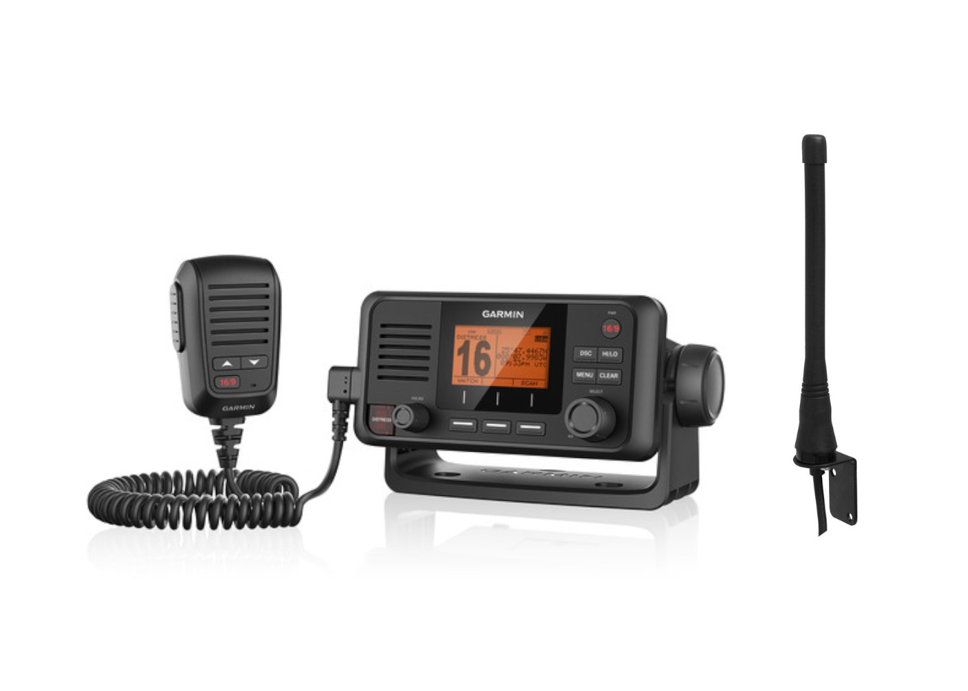 Garmin VHF115i Marine Radio & Antenna Kit