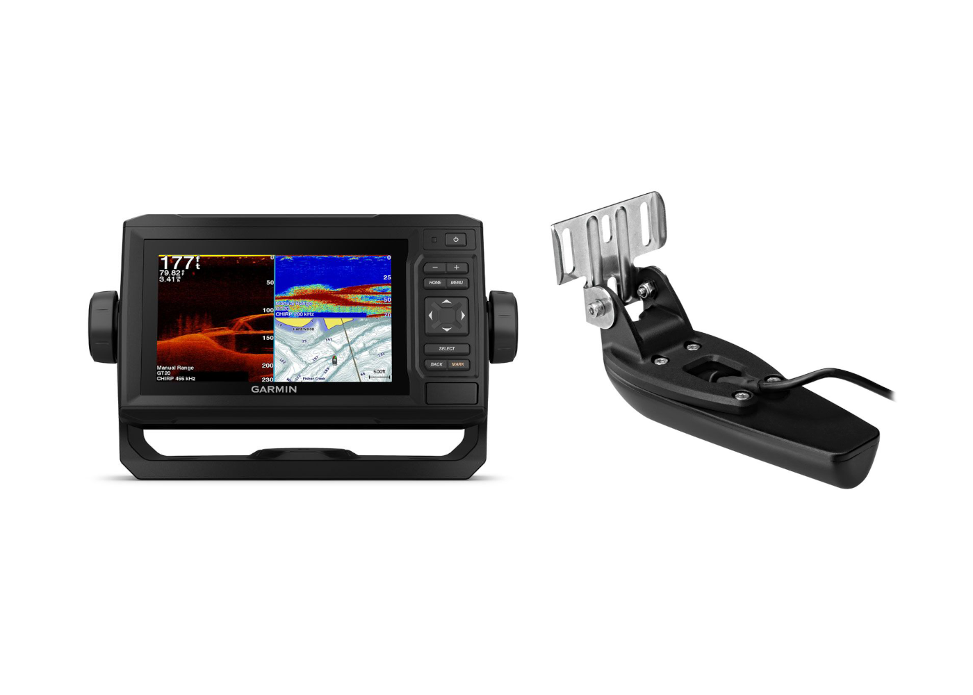 Garmin ECHOMAP Plus 65CV & Transducer Kit