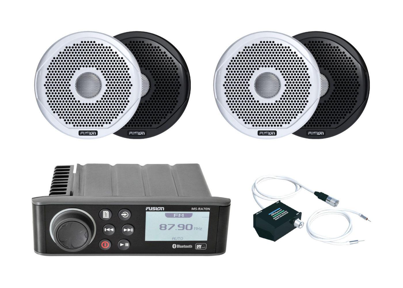 Fusion RA70N Marine Stereo & Speaker Kits