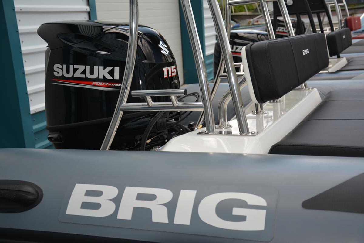 BRIG Navigator 610HJ - Military Grey - Rear Seat & A-Frame